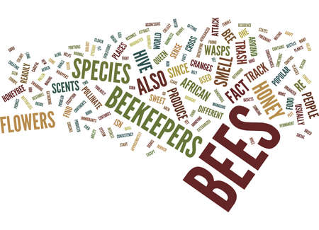 THE BIOLOGY OF BEES Text Background Word Cloud Concept Ilustração