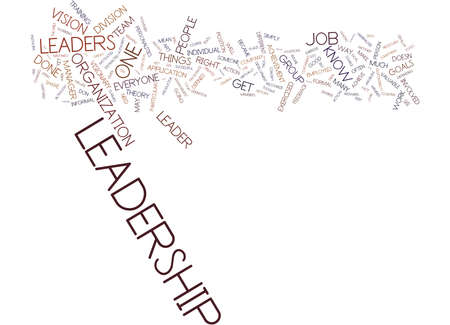 THE ART OF LEADERSHIP Text Background Word Cloud Concept