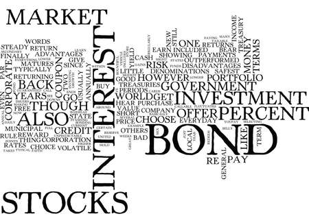 THE BOND MARKET AND HOW YOU CAN BENEFIT Text Background Word Cloud Concept