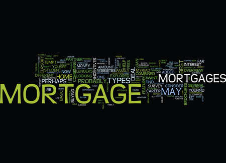 THE BEST MORTGAGE DEAL EVER Text Background Word Cloud Concept