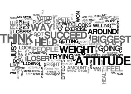 THE BIGGEST LOSER A TALE OF LOSERS Text Background Word Cloud Concept