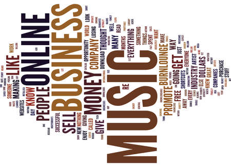 THE BEST ONLINE BUSINESS OPPORTUNITY Text Background word cloud concept
