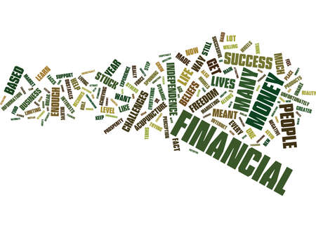 THE BIGGEST OBSTACLES TO FINANCIAL SUCCESS Text Background Word Cloud Concept