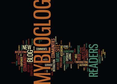 THE BUZZ ABOUT MYBLOGLOG Text Background Word Cloud Concept Illusztráció