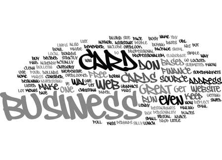 THE ART OF BUSINESS CARDS Text Background Word Cloud Concept Ilustração