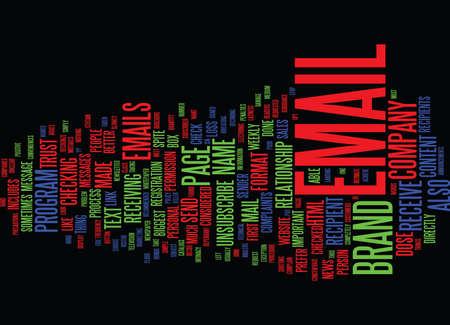 DE GROOTSTE E-MAIL MERKvernietigers Tekstachtergrond Word Cloud Concept Stock Illustratie