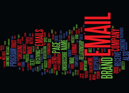 unsubscribe: THE BIGGEST EMAIL BRAND KILLERS Text Background Word Cloud Concept