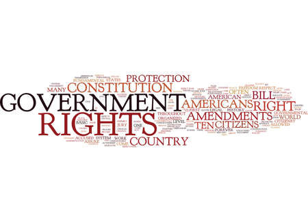 THE BILL OF RIGHTS Text Background Word Cloud Concept
