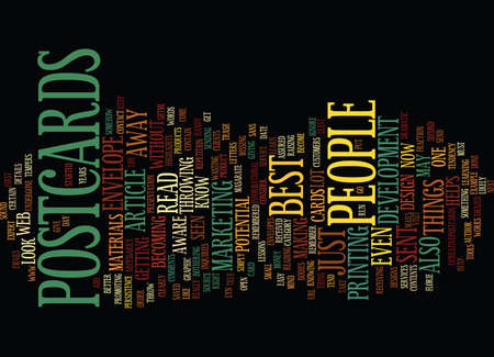 better: THE BEST OF THE BEST IN POSTCARDS Text Background Word Cloud Concept
