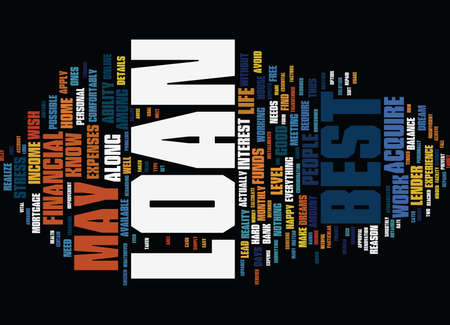 THE BEST LOAN FOR YOU Text Background Word Cloud Concept Illustration