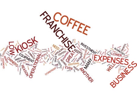 eliminate: THE APPEAL OF THE KIOSK COFFEE FRANCHISE Text Background Word Cloud Concept Illustration