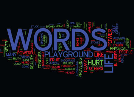 THE AWESOME POWER OF WORDS Text Background Word Cloud Concept