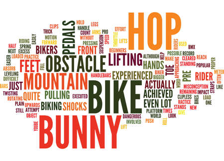 THE BUNNY HOP Text Background Word Cloud Concept 向量圖像