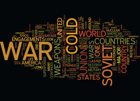 THE COLD WAR Text Background Word Cloud Concept