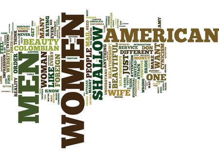 THE ATTACK DEFENSE OF THE MAIL ORDER BRIDE BUSINESS PART TWO Text Background Word Cloud Concept