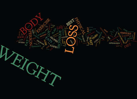 THE BEST RAPID WEIGHT LOSS TECHNIQUES Text Background Word Cloud Concept