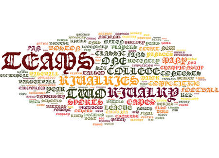 THE BIGGEST RIVALRIES IN SPORTS Text Background Word Cloud Concept Illustration