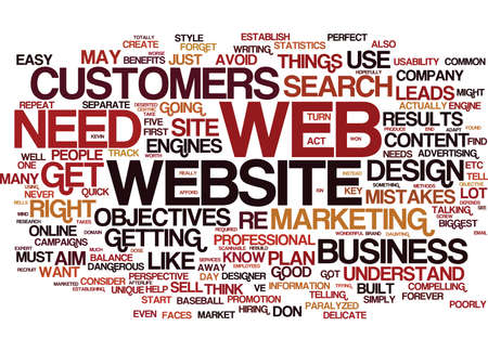 THE BIGGEST MISTAKES OF WEB DESIGN Text Background Word Cloud Concept