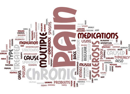 THE CHRONIC PAIN OF MULTIPLE SCLEROSIS Text Background Word Cloud Concept