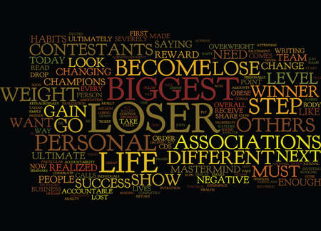 THE BIGGEST LOSER Text Background Word Cloud Concept Illustration