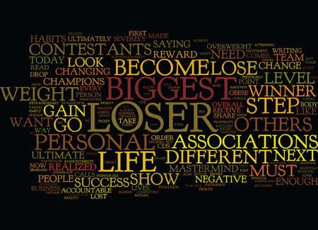 THE BIGGEST LOSER Text Background Word Cloud Concept Illusztráció