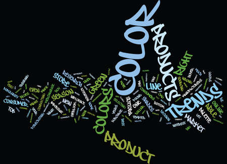 THE COLOR OF MONEY HOW COLOR TRENDS AFFECT YOUR BOTTOM LINE Text Background Word Cloud Concept Illusztráció