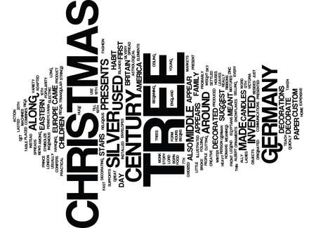 cutting: THE CHRISTMAS TREE Text Background Word Cloud Concept