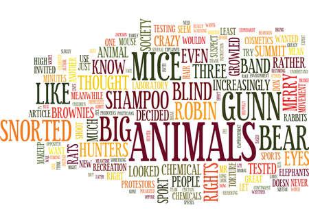 동물 권리 서밋 텍스트 배경 단어 구름 개념