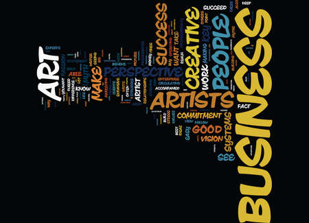 THE ART OF CREATIVE BUSINESS SUCCESS Text Background Word Cloud Concept