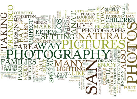 THE ART OF ORGANIC PHOTOGRAPHY Text Background Word Cloud Concept Çizim