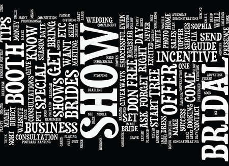 THE BRIDAL SHOW SUCCESS GUIDE Text Background Word Cloud Concept