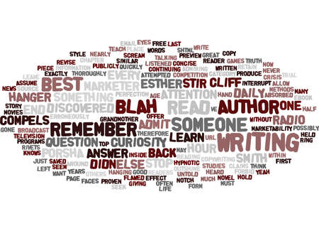 THE AUTHOR WITHIN Text Background Word Cloud Concept Иллюстрация