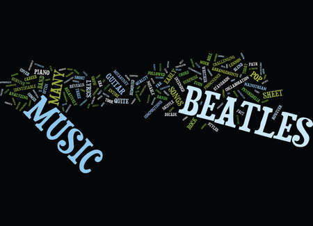 THE BEATLES Text Background Word Cloud Concept Illustration