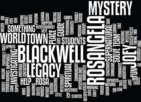 THE BLACKWELL LEGACY Text Background Word Cloud Concept