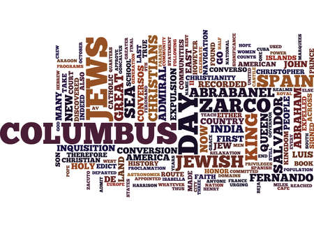 THE COLUMBUS AMERICAN HISTORY NEVER KNEW Text Background Word Cloud Concept