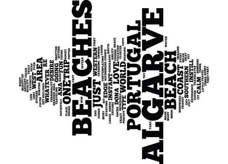 THE BEACHES OF PORTUGAL Text Background Word Cloud Concept