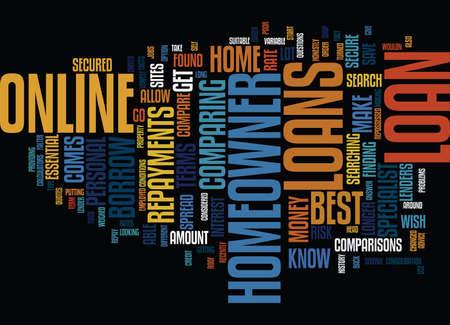 DE BESTE LENINGEN VAN HOMEOWNER KUNNEN WORDEN GEVONDEN ALS JE Tekstachtergrond Word Cloud Concept zoekt en vergelijkt