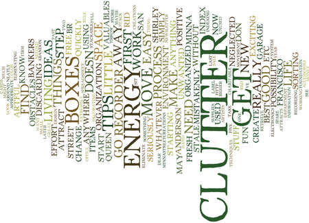 THE CLUTTER QUEEN Text Background Word Cloud Concept