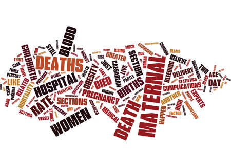 MATERNAL DEATHS STILL HAPPEN IN THIS DAY AND AGE Text Background Word Cloud Concept Illustration