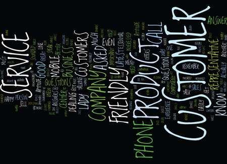 THE DOUBLE A S IN CUSTOMER SERVICE Text Background Word Cloud Concept Illustration