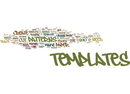 THE CRAFT OF QUILT TEMPLATES Text Background Word Cloud Concept