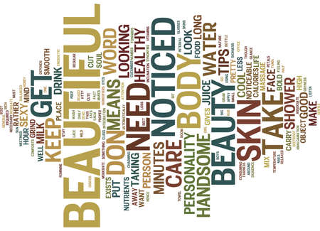 BEAUTY TRADE SHOWS Text Background Word Cloud Concept