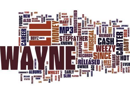 LIL ウェイン彼音楽テキスト背景単語クラウドのコンセプト  イラスト・ベクター素材