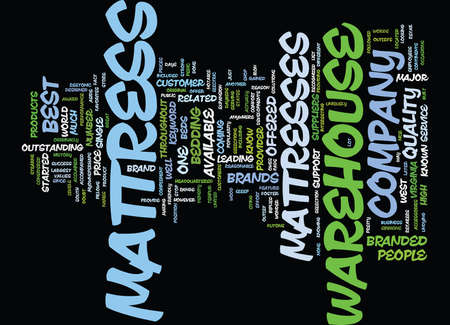 マットレス ウェアハウス本文背景単語雲概念