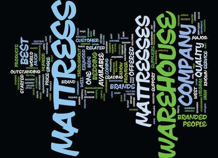 MATTRESS WAREHOUSE Text Background Word Cloud Concept