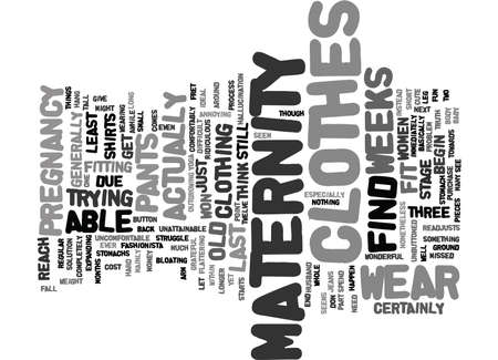 fret: MATERNITY CLOTHES Text Background Word Cloud Concept