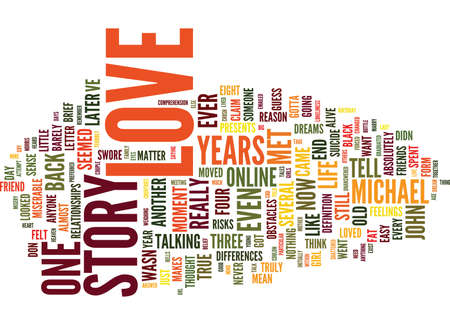 THE DAY I MET YOU MY TRUE LOVE STORY PART I Text Background Word Cloud Concept