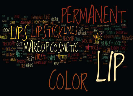 LIPSTICK LOVE THE LOOK HATE THE WORK Text Background Word Cloud Concept 向量圖像
