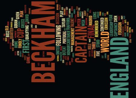 ベッカムはメンズ ジュエリー テキスト背景単語雲概念でリーダーシップをとります  イラスト・ベクター素材