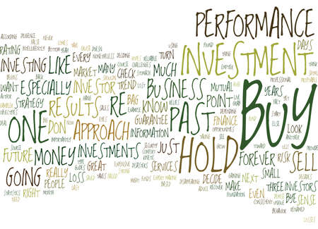 THE DEMISE OF BUY HOLD Text Background Word Cloud Concept
